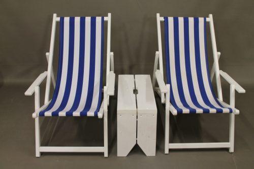 Bijzettafel strandstoel vurenhout