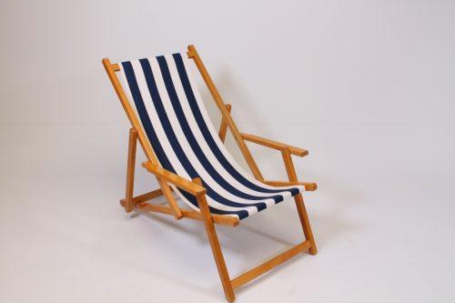 Strandstoel Noordwijk met katoenen loper