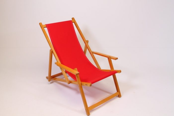 Strandstoel Liegestuhl beach chair rood red rot