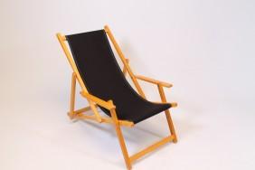 Strandstoel noordwijk katoen louwen houtbewerking - Houtkleur zwart ...