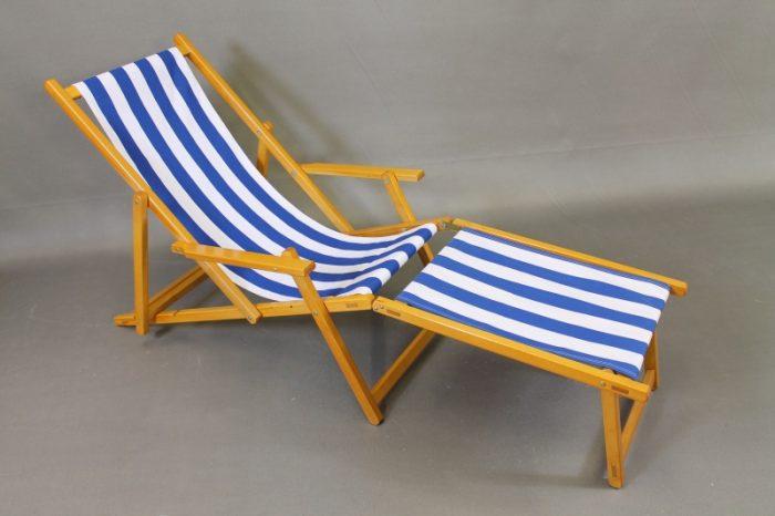wooden footstool beach chair