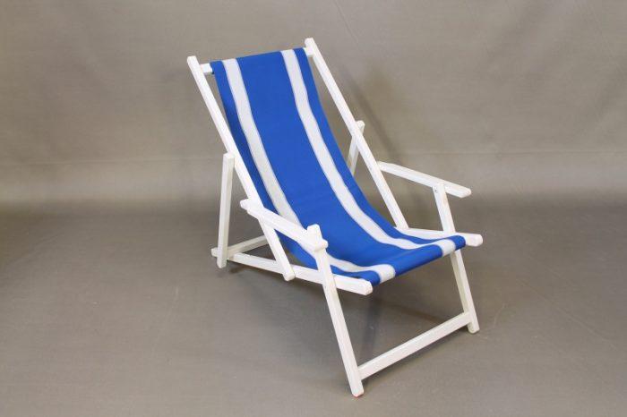 white beach chair blue plastic carpet