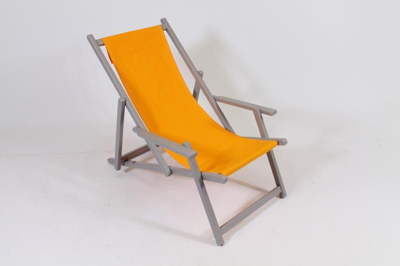 Strandstoel Liegestuhl beach chair geel yellow gelb
