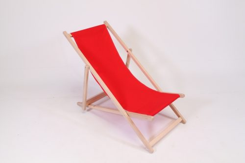 red beach chair wood