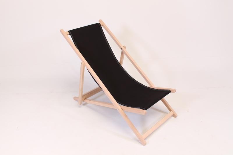 beach chair plain black
