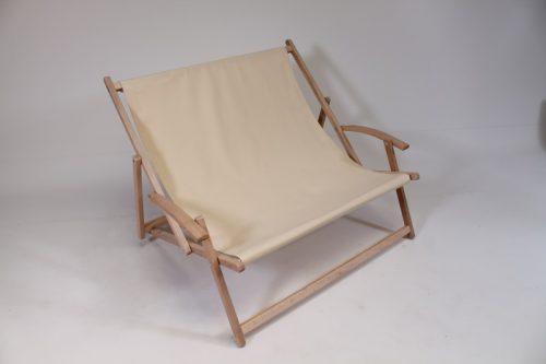 Tweepersoons strandstoel hout