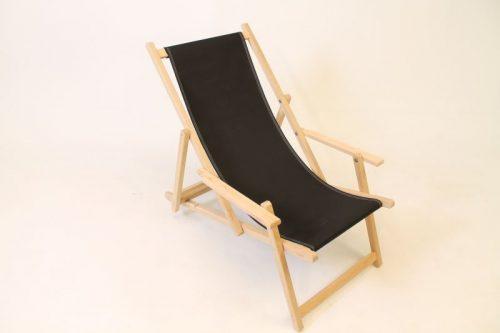inklapbare eikenhouten strandstoel