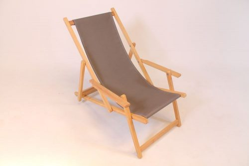 wooden beach chair iroko hardwood anthracite