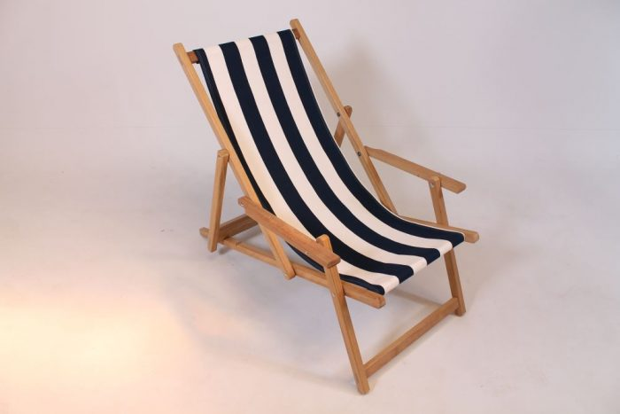 wooden beach chair iroko hardwood navy