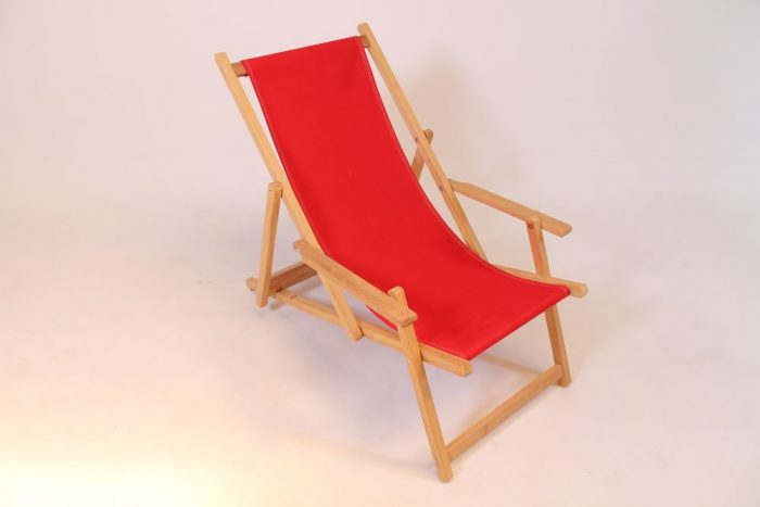 wooden beach chair iroko hardwood red