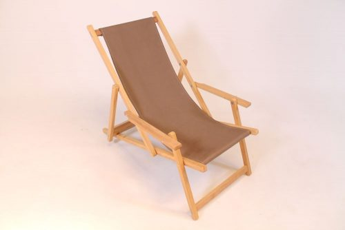 Wooden beach chair iroko hardwood taupe