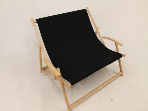 Tweepersoons houten strandstoel