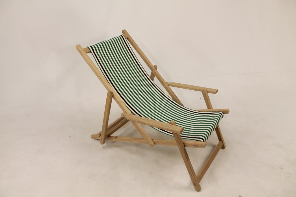 Oak beach chair Noordwijk