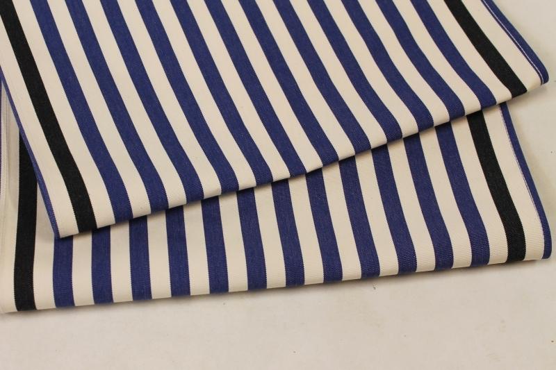 Katoenen loperstof blauw wit voor strandstoel