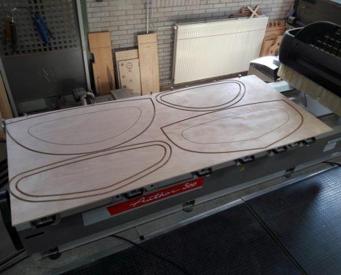 Gefreesde panelen voor elektro boot